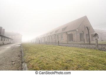 营房, 纳粹, 电, 栅栏, 以前
