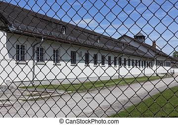 营房, -, dachau, 德国, 集中, 纳粹