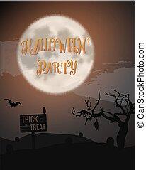 萬聖節前夜黨, 海報, 由于, 巨大, 月亮, 蝙蝠, 洞, 等等, could, 是