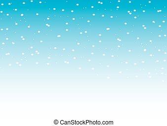 落ちる, 雪, ベクトル, seamless, パターン