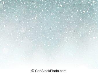 落ちる, 雪