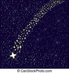 落ちる, star.