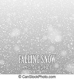 落下, 雪