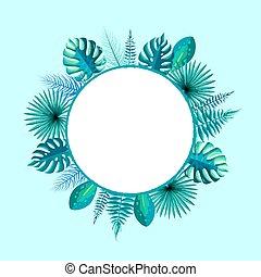 葉子, 正文, 框架, 棕櫚, 地方, 備用, 輪, 空