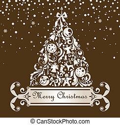 葉書, クリスマス, レトロ