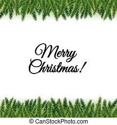 葉書, ブランチ, 木, クリスマス