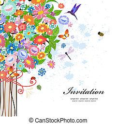 葉書, 装飾用のデザイン, 木