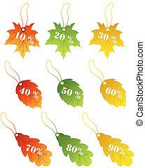 葉, かえで, セール, ラベル