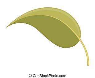 葉, アイコン, ベクトル