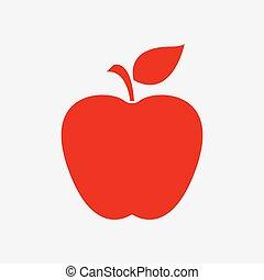 葉, アップル, シンボル。