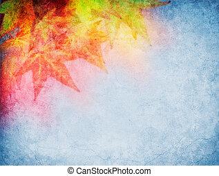 葉, カラフルである, 秋