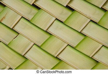 葉, パターン, ココナッツ, はたを織りなさい