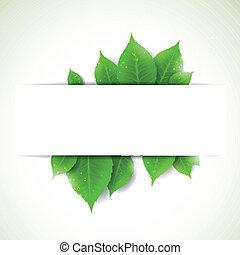 葉, ベクトル, 背景, 自然