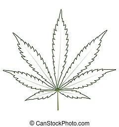 葉, マリファナの薬剤, 雑草, インド大麻, 薬, アイコン