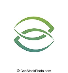 葉, ラベル, combined., シルエット, 2, ブランド, ロゴ