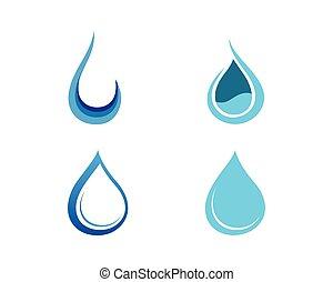 葉, 低下, イラスト, 水, ベクトル, テンプレート, ロゴ