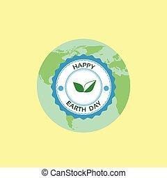葉, 切手, 地球, 4 月, 緑地球, 世界, 休日, 日