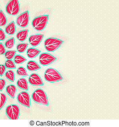 葉, 半分, カード, 招待, 円, 赤