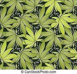 葉, 壁紙, 緑, seamless, 空想