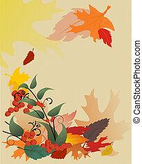 葉, 手ざわり, 秋
