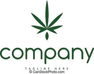 葉, 抽象的, インド大麻, ベクトル, 緑, ロゴ, イメージ