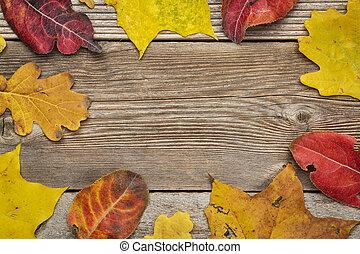葉, 木, 外気に当って変化した, 背景