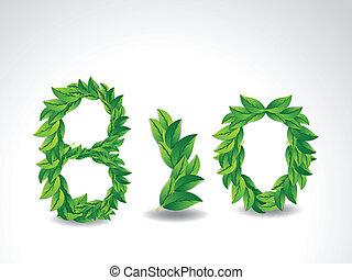 葉, 背景, bio, 緑