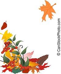 葉, 落ちる, 白