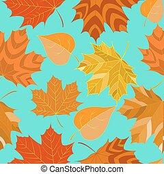 葉, 装飾用である, 背景, seamless, 秋