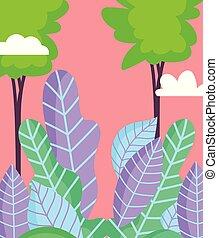 葉, 風景, 木, 群葉, 自然, 空