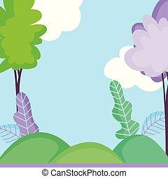 葉, 風景, 木, 自然, 空, ブッシュ