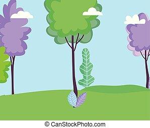 葉, 風景, 木, 自然, 空, 牧草地