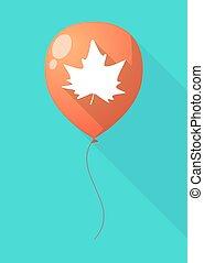 葉, balloon, 木, 長い間, 秋, 影