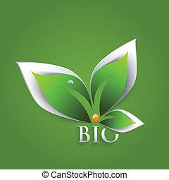 葉, bio, 緑