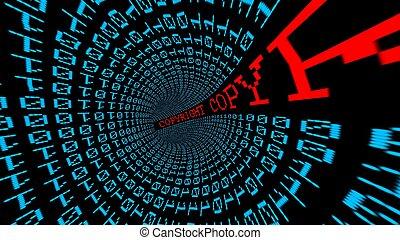 著作権, データ, トンネル