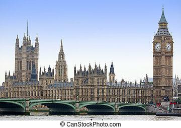 著名, 以及, 美麗, 看法, 到, 大本鐘, 以及, 議會的房子, wi