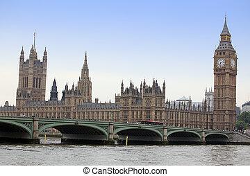 著名, 同时,, 美丽, 察看, 对于, 大本钟, 同时,, 议会的房屋, 带, thameas, 同时,,...