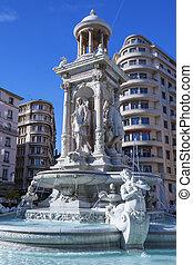 著名, 泉水, 在适當的位置, des, jacobins