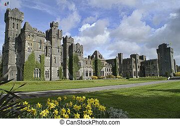 著名, ashford 城堡, 縣mayo, ireland.