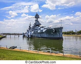 著名, dreadnought, 戰艦, 得克薩斯
