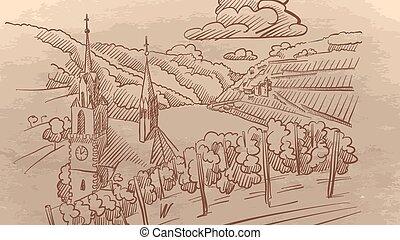 葡萄園, 歐洲, 風景