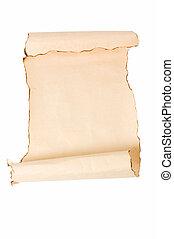 葡萄收获期, 卷, 背景, 羊皮纸