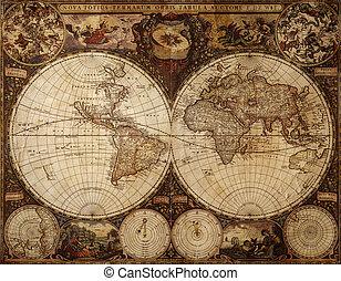 葡萄收获期, 地图