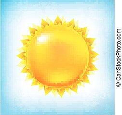 葡萄收获期, 太阳, 带, 天空