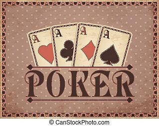 葡萄收获期, 娱乐场, 背景, 扑克牌