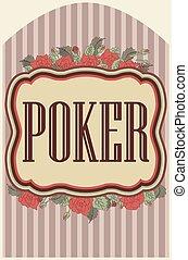葡萄收获期, 扑克牌, 娱乐场, 背景