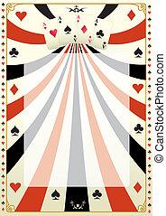 葡萄收获期, 扑克牌, 背景