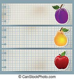 葡萄收获期, 水果, 旗帜