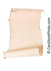 葡萄收获期, 羊皮纸, 背景, 卷
