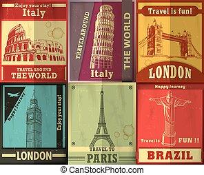 葡萄酒, 旅行, 裝置設計, 海報